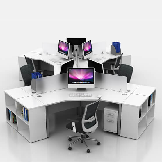 ICW 120 Degree Desk White 01