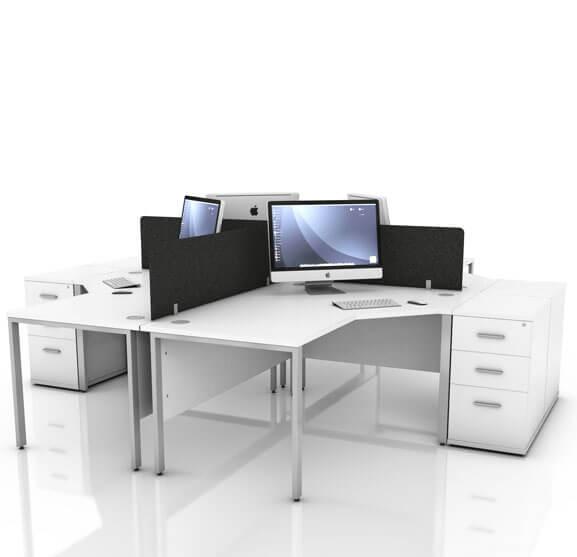 ICW Radial Desk 01 White