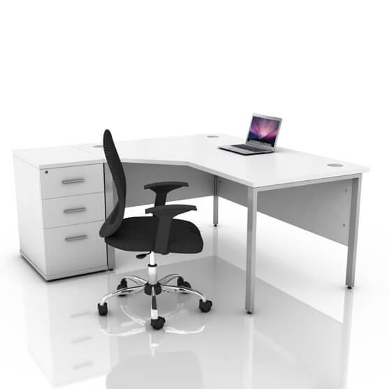 ICW Radial Desk white left handed 02