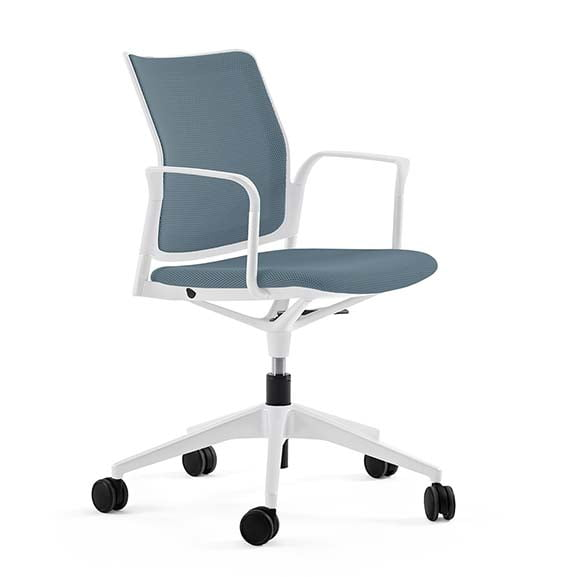 Actiu Urban Work Chair with white frame