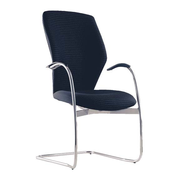 Air Blast meeting cantilever chair with arms