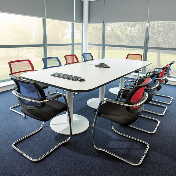 Air Breeze Mesh Back Cantilever Office Meeting Chair