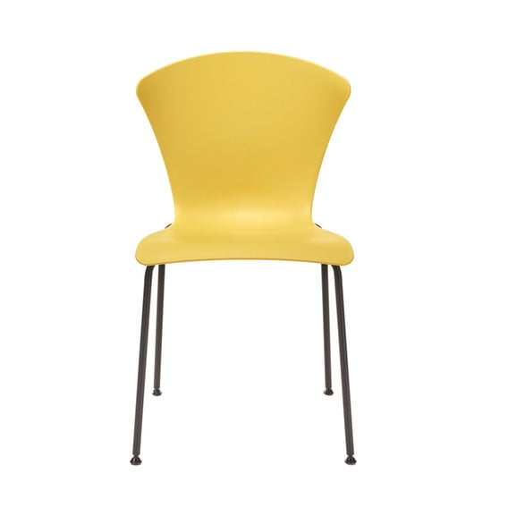 Connection Glaze Breakout Chair in Mustard