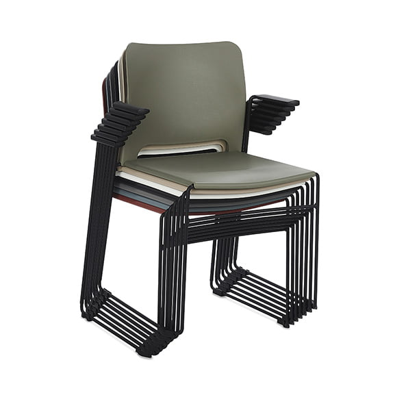 Connection Xpresso Curve Office Breakout Chair Stacked