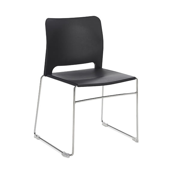 Connection Xpresso Curve Office Breakout Chair Black and Chrome