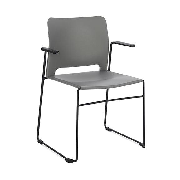 Connection Xpresso Curve Office Breakout Chair Cement Grey Black