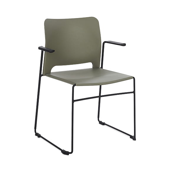 Connection Xpresso Curve Office Breakout Chair Military Green Black