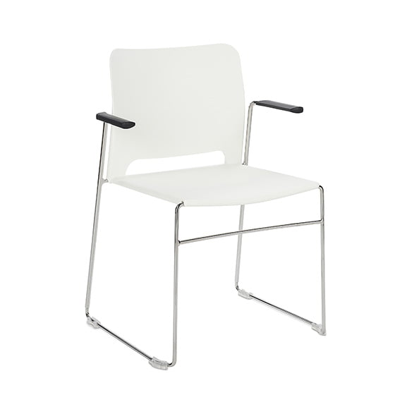 Connection Xpresso Curve Office Breakout Chair White Chrome
