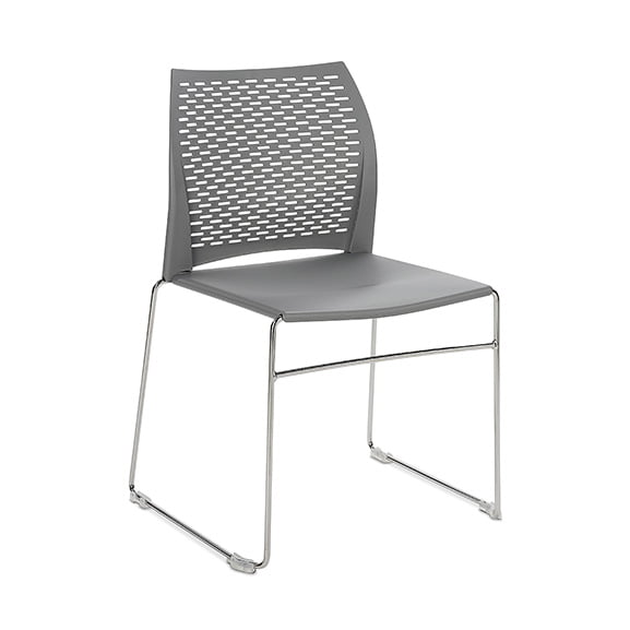 Connection Xpresso Perforated Office Breakout Chair Cement Grey Black