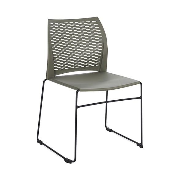 Connection Xpresso Perforated Office Breakout Chair Military Green Black