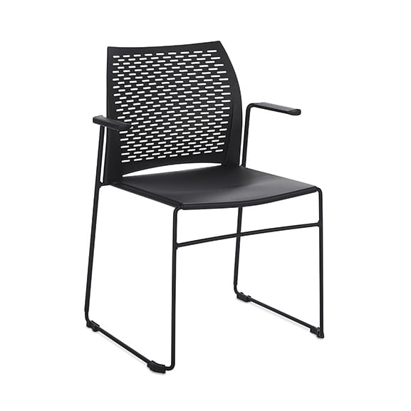 Connection Xpresso Perforated Office Breakout Chair Black
