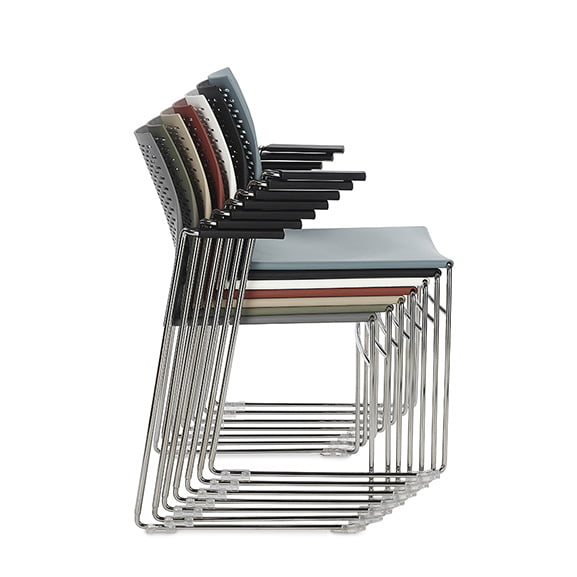 Connection Xpresso Perforated Office Breakout Chair Stacked