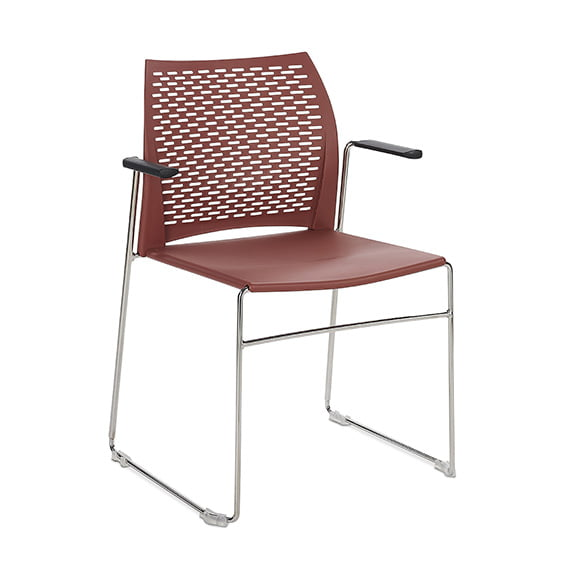 Connection Xpresso Perforated Office Breakout Chair Red Chrome