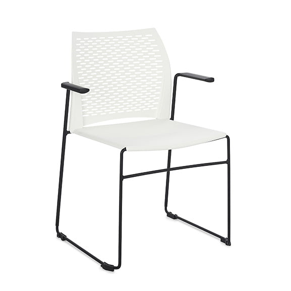 Connection Xpresso Perforated Office Breakout Chair White Black