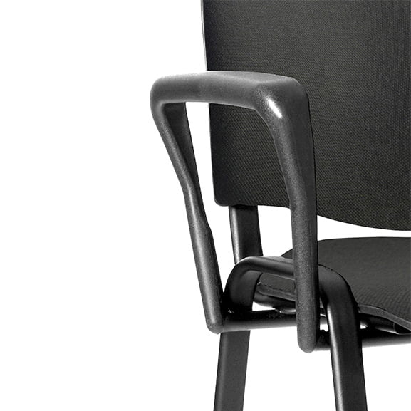 BT Office ISO 4 Leg Fabric Office Meeting Chair Black