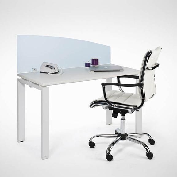 Era Curved Translucent Desk Mounted Screen