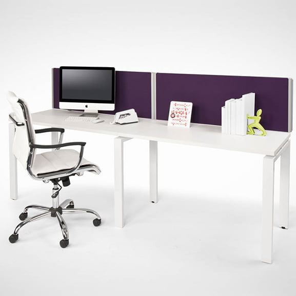 Era One Series Desk Mounted Screen with White Executive Swivel Chair
