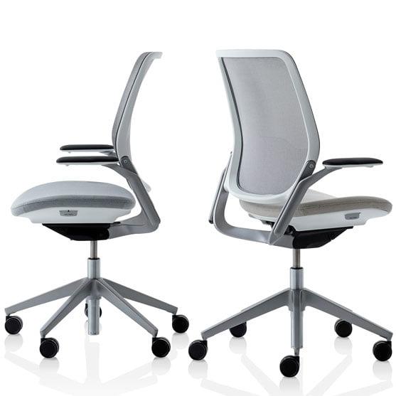 Eva Work Chair in Grey Swivel Chair