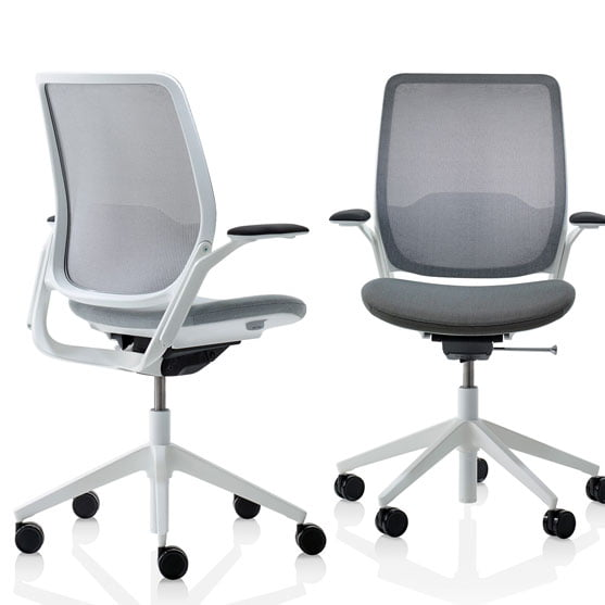 Eva Work Chair in dark and light grey