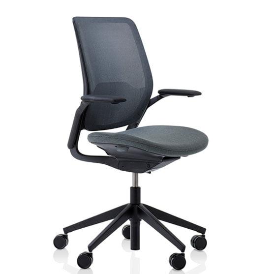 Eva Work chair in dark grey