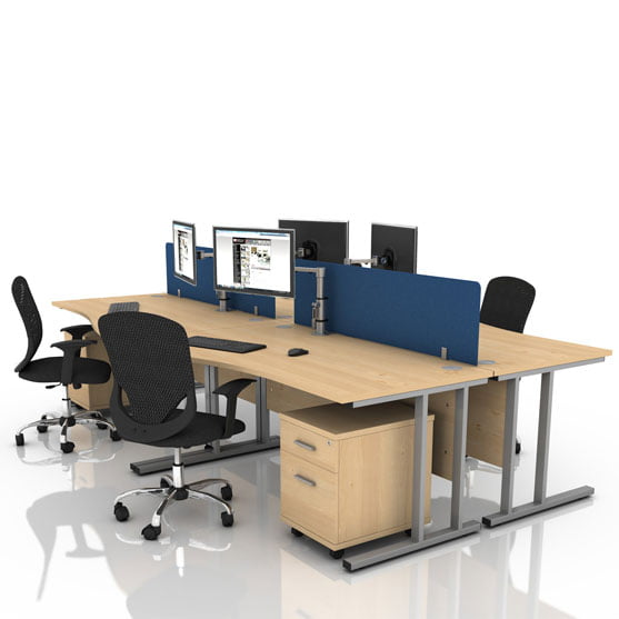 Icarus Rectangular Office desk with cantilever leg