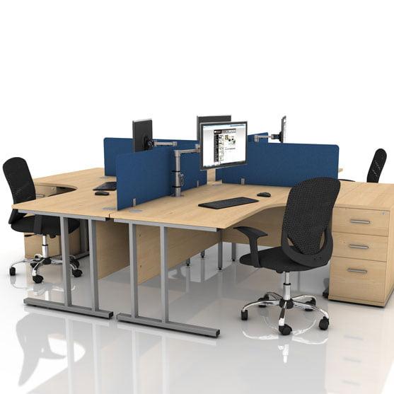 Icarus Maple Cantilever Corner Desk