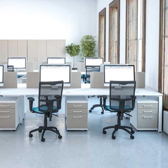 Veta Bench Desk with office storage