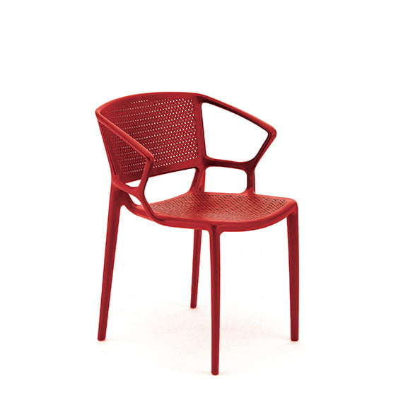 Pledge Daisy Breakout Office Chair Red with arms