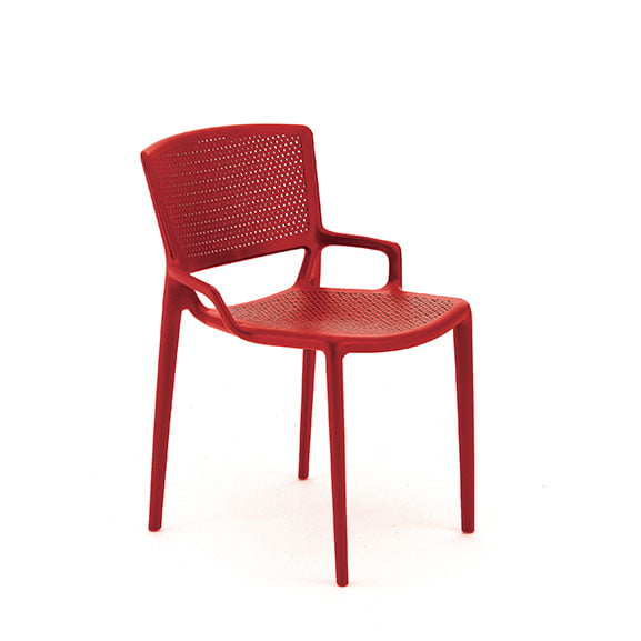 Pledge Daisy Breakout Office Chair Red without arms