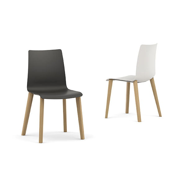 Pledge Fjord Office Breakout Chair Wood Legs