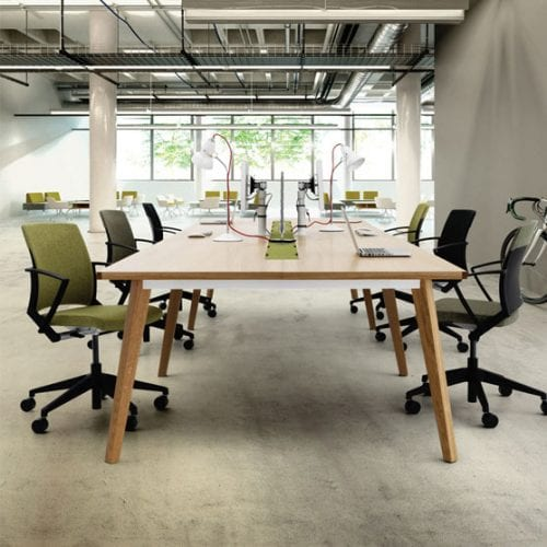 Bench Desks from Verco shown in a modern office