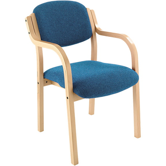 Ozone wood frame office meeting chair with arms