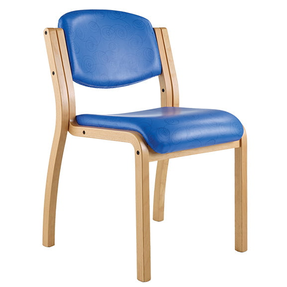 Ozone wood frame office meeting chair no arms