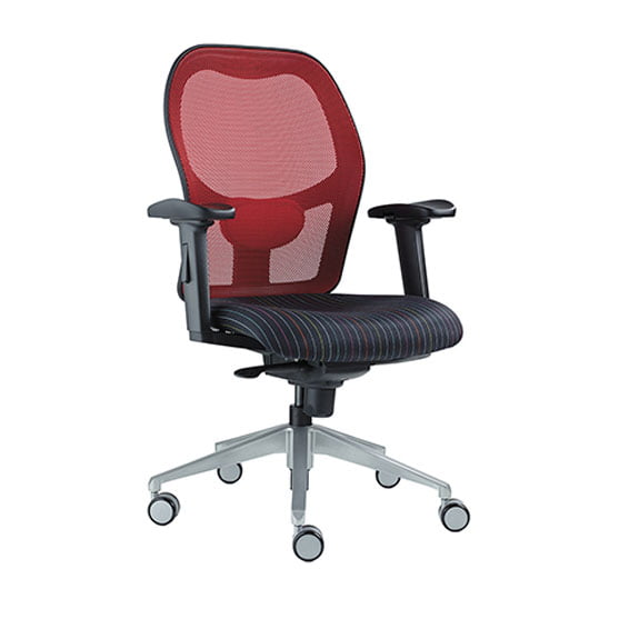 Alize Mesh Office chair in red with arms