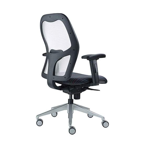 Back of Alize Mesh Office Chair in Red with arms