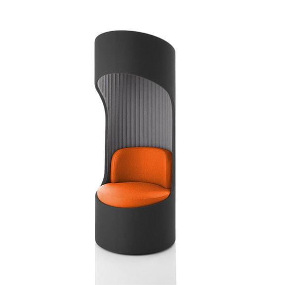 Cega high back sofa boss in orange and grey
