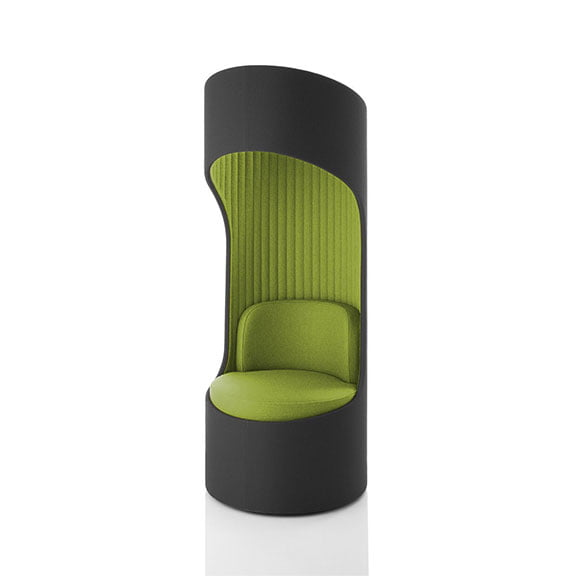 Boss cega high back sofa in green and grey workplace