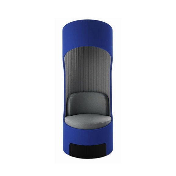 Boss cega high back acoustic seating blue and grey for office spaces