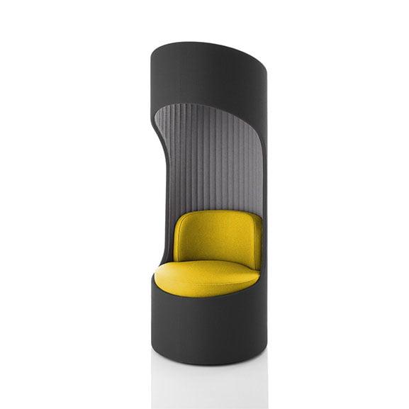 Grey and yellow cega high back sofa boss acoustic