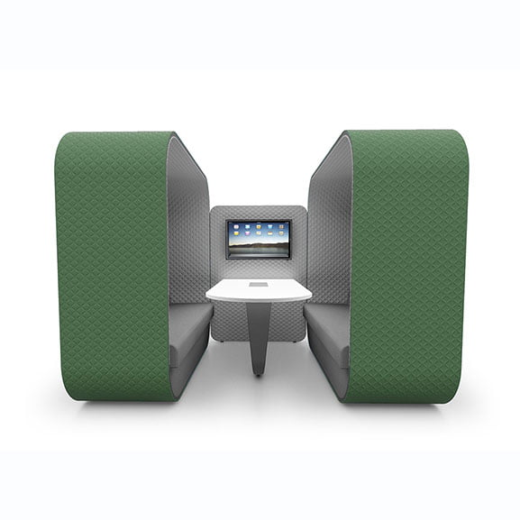 Boss cocoon high back sofa booth in green