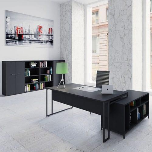 Buronomic Stricto Sensu Executive Desk in black