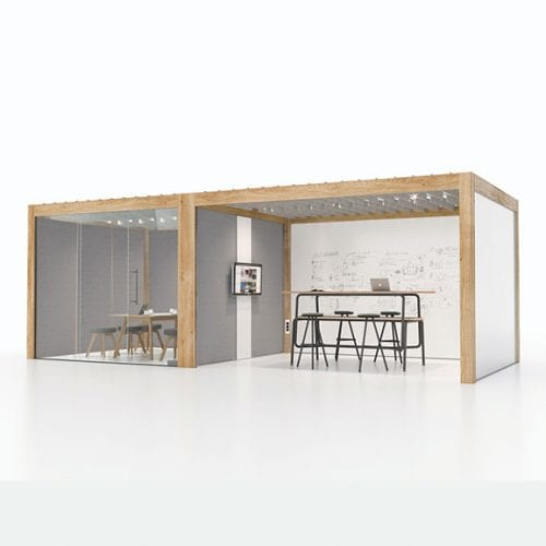 Connection rooms office pod