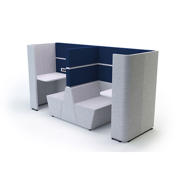 Cubbi Acoustic Booth in blue and grey