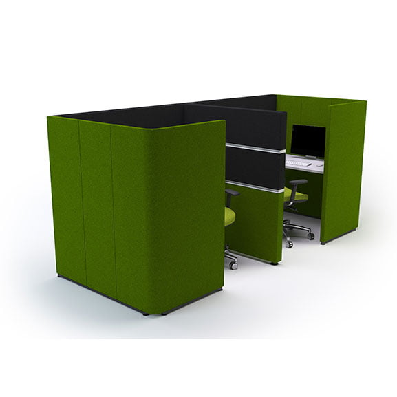 Details of Cubbi Acoustic booth in green
