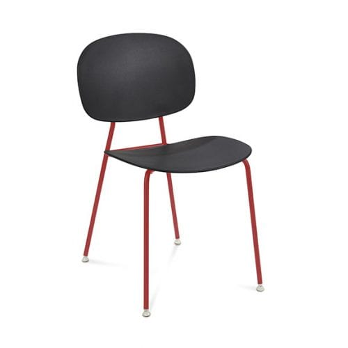 Connection Seating Tube Breakout Chair Black with RAL Legs
