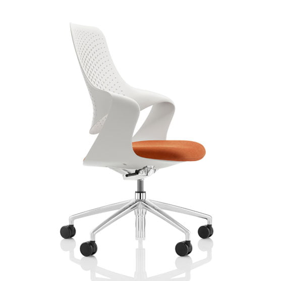 Coza Mesh Chair from Boss Design in orange and white