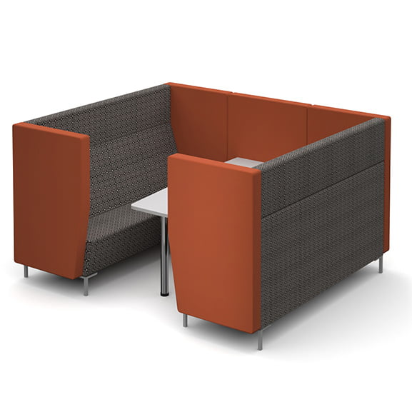 Six seater dams encore high back sofa booth