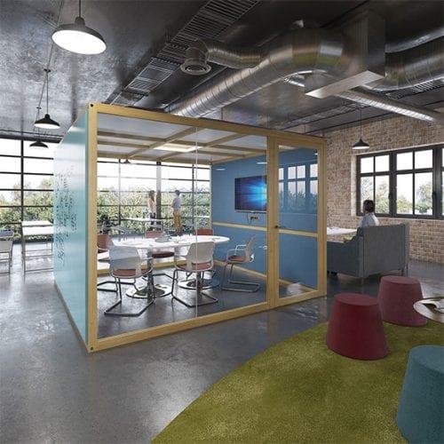 Hush hubs office pod for meetings dams