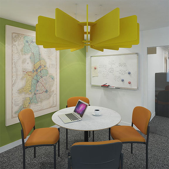 Yellow Dams Scales Suspended Acoustic Panel
