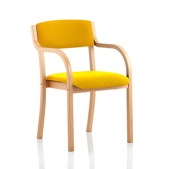 Madrid wood frame office meeting chair with arms